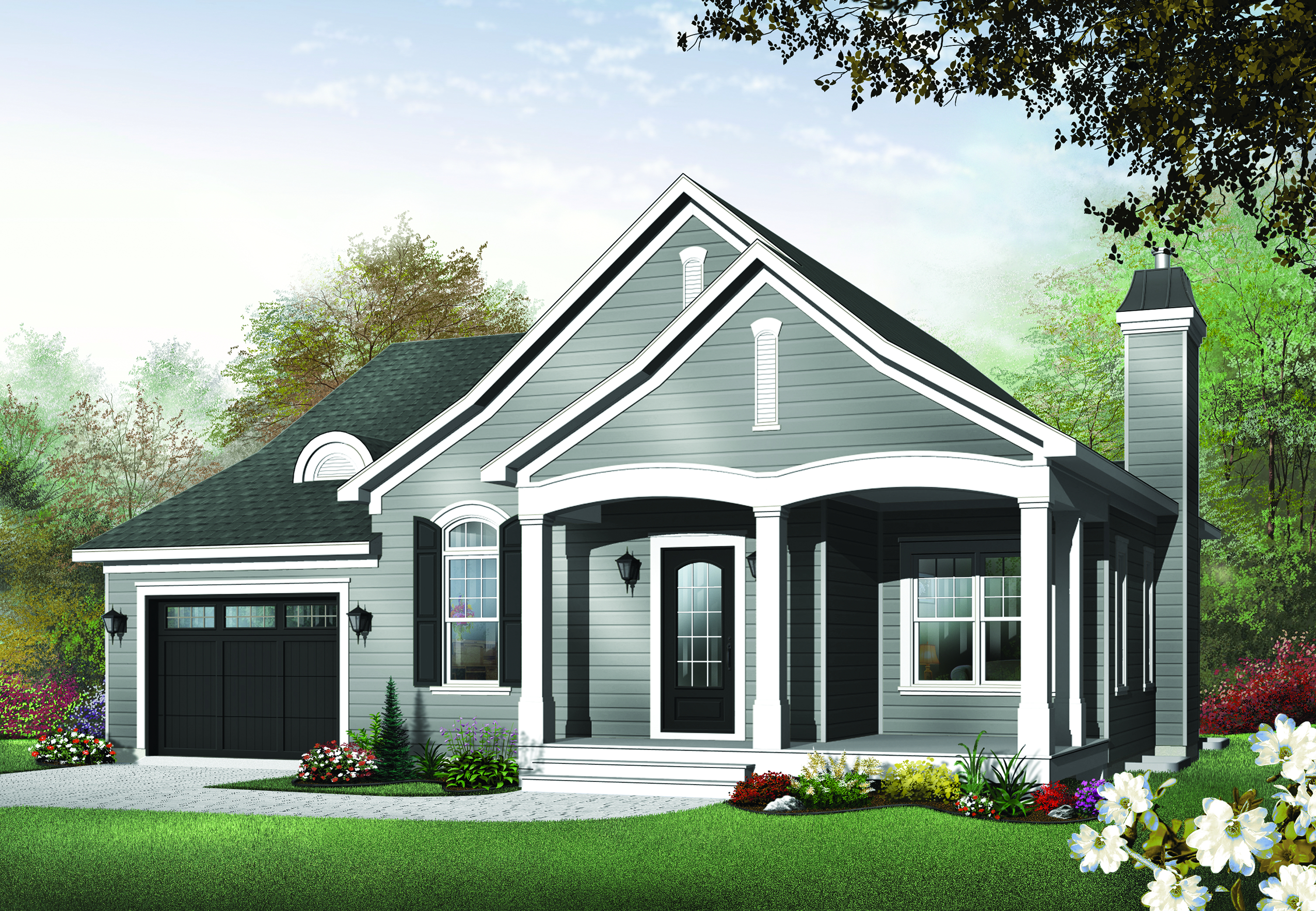 Bungalow Country Ranch House Plans Home Design Dd 3215