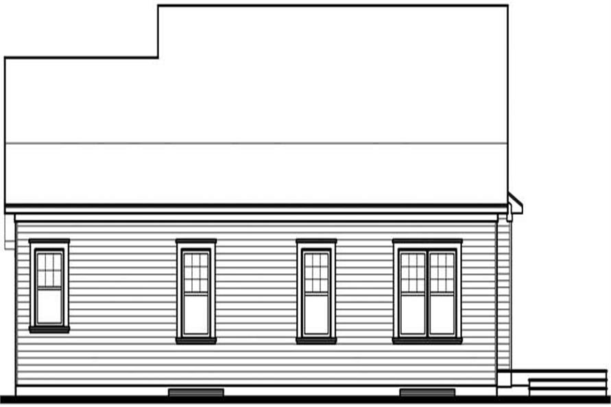 Home Plan Rear Elevation of this 2-Bedroom,3213 Sq Ft Plan -126-1484