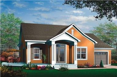 2-Bedroom, 3213 Sq Ft Ranch House Plan - 126-1484 - Front Exterior