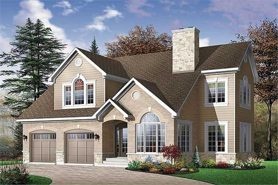 4-Bedroom, 2265 Sq Ft Contemporary House Plan - 126-1490 - Front Exterior