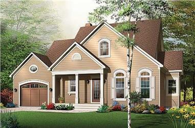 4-Bedroom, 2149 Sq Ft Coastal House Plan - 126-1492 - Front Exterior