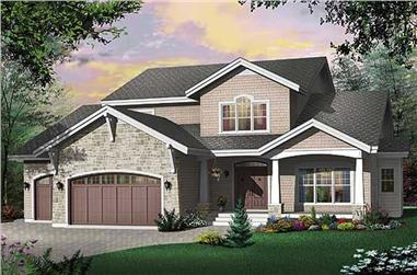 4-Bedroom, 3943 Sq Ft Country House Plan - 126-1493 - Front Exterior