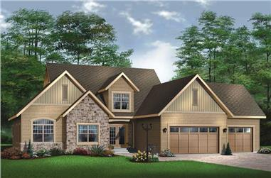 3-Bedroom, 3719 Sq Ft Contemporary House Plan - 126-1494 - Front Exterior