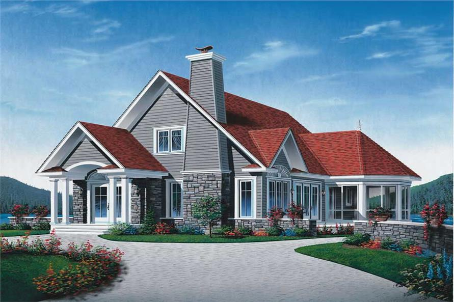 3-Bedroom, 1442 Sq Ft Coastal Home Plan - 126-1506 - Main Exterior