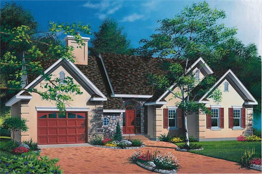 3-Bedroom, 1460 Sq Ft Ranch Home Plan - 126-1507 - Main Exterior