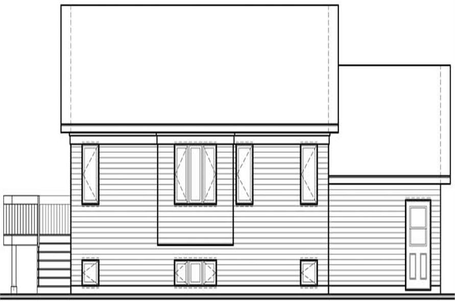 Home Plan Rear Elevation of this 2-Bedroom,1165 Sq Ft Plan -126-1509