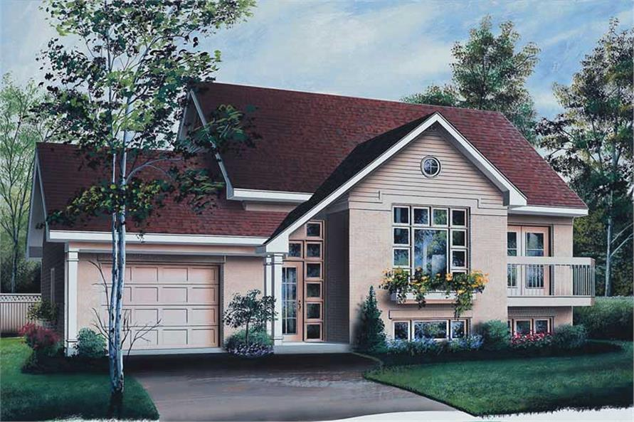 2-Bedroom, 1165 Sq Ft Ranch House Plan - 126-1509 - Front Exterior
