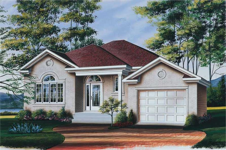 2-Bedroom, 1282 Sq Ft Bungalow House Plan - 126-1510 - Front Exterior