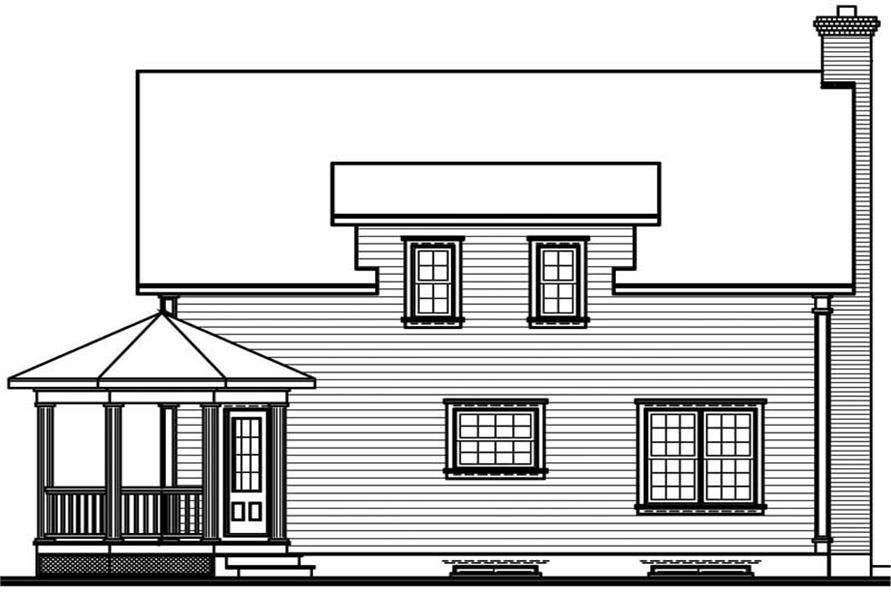 Home Plan Rear Elevation of this 3-Bedroom,2056 Sq Ft Plan -126-1511