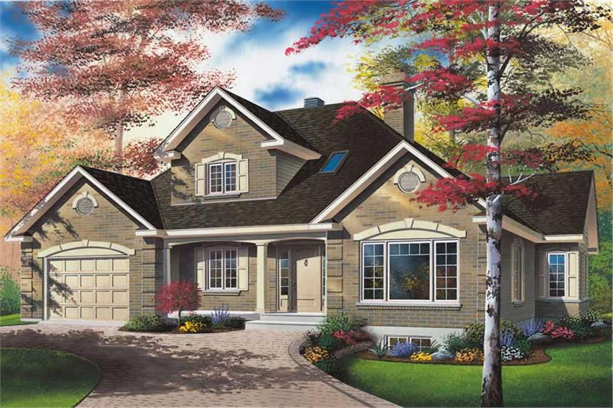 3-Bedroom, 2101 Sq Ft Country Home Plan - 126-1513 - Main Exterior