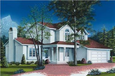 3-Bedroom, 2084 Sq Ft European House Plan - 126-1514 - Front Exterior