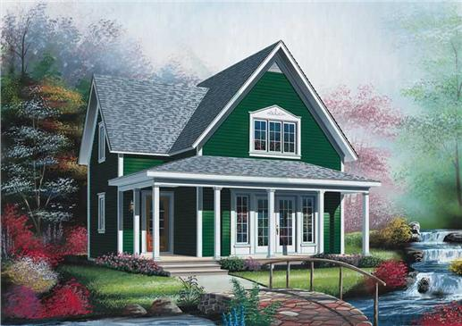Small vacation homes country farmhouse house plans for Small vacation home plans