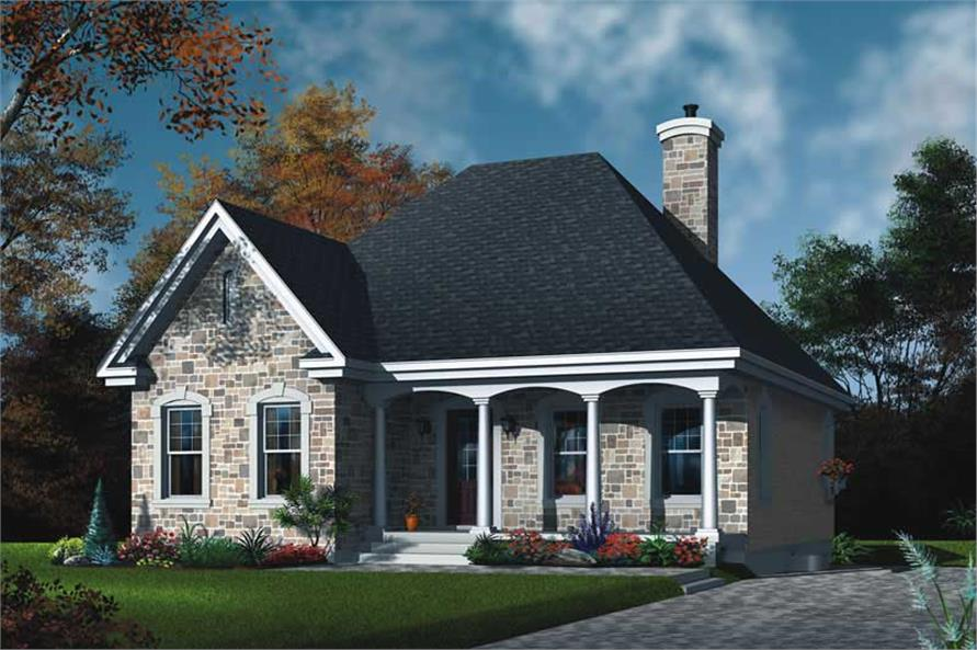 2-Bedroom, 1094 Sq Ft Bungalow Home Plan - 126-1518 - Main Exterior
