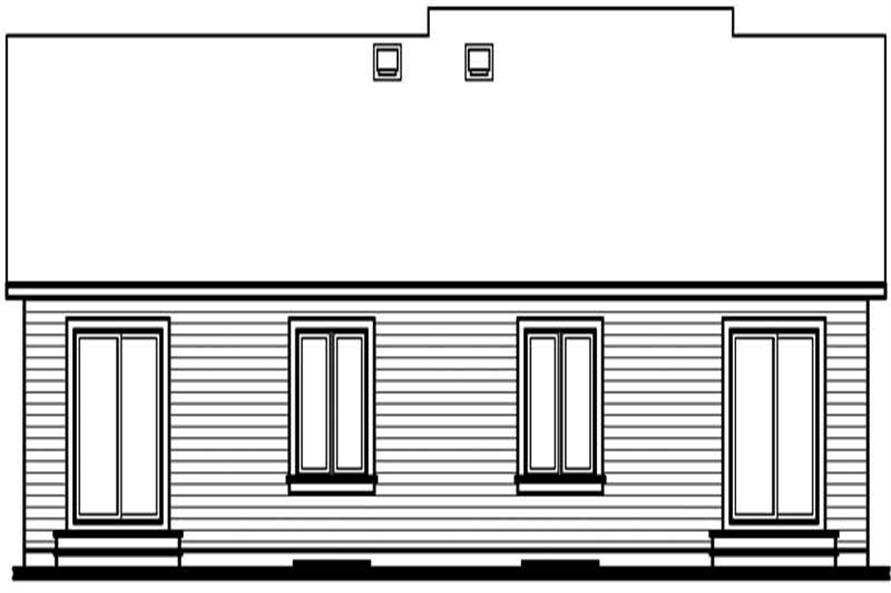 Home Plan Rear Elevation of this 2-Bedroom,1632 Sq Ft Plan -126-1523