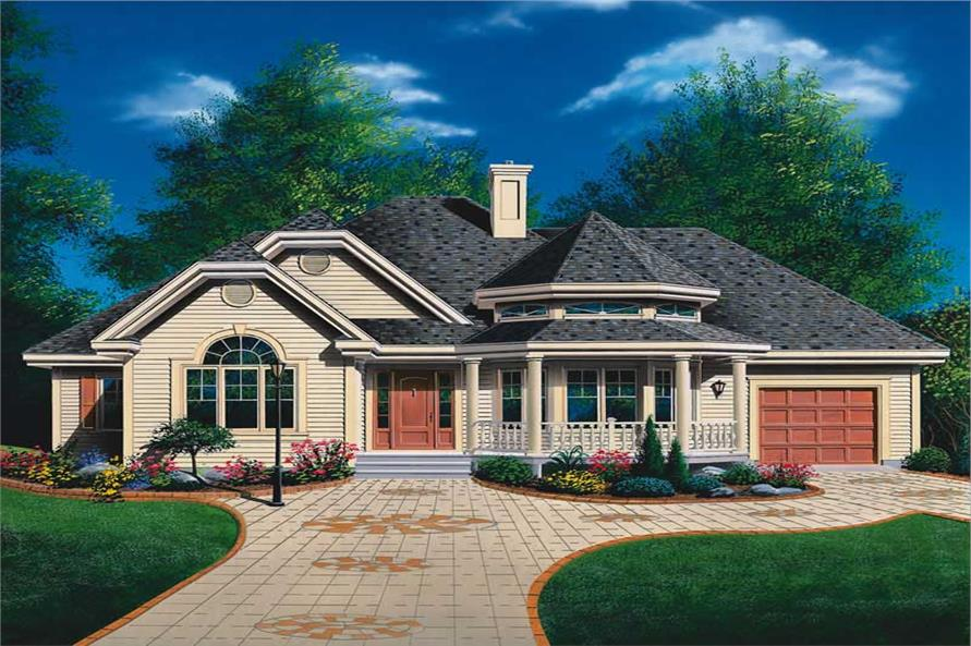3-Bedroom, 1370 Sq Ft Ranch Home Plan - 126-1526 - Main Exterior