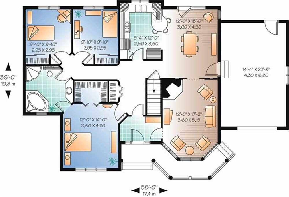Large Images For House Plan 126 1526