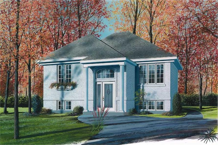 2-Bedroom, 878 Sq Ft Bungalow House Plan - 126-1527 - Front Exterior