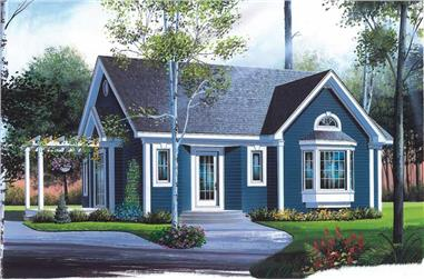 2-Bedroom, 1262 Sq Ft Country Home Plan - 126-1529 - Main Exterior