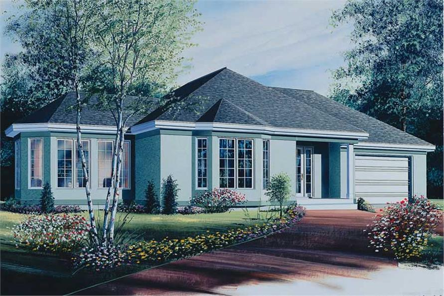 2-Bedroom, 1196 Sq Ft Ranch House Plan - 126-1530 - Front Exterior