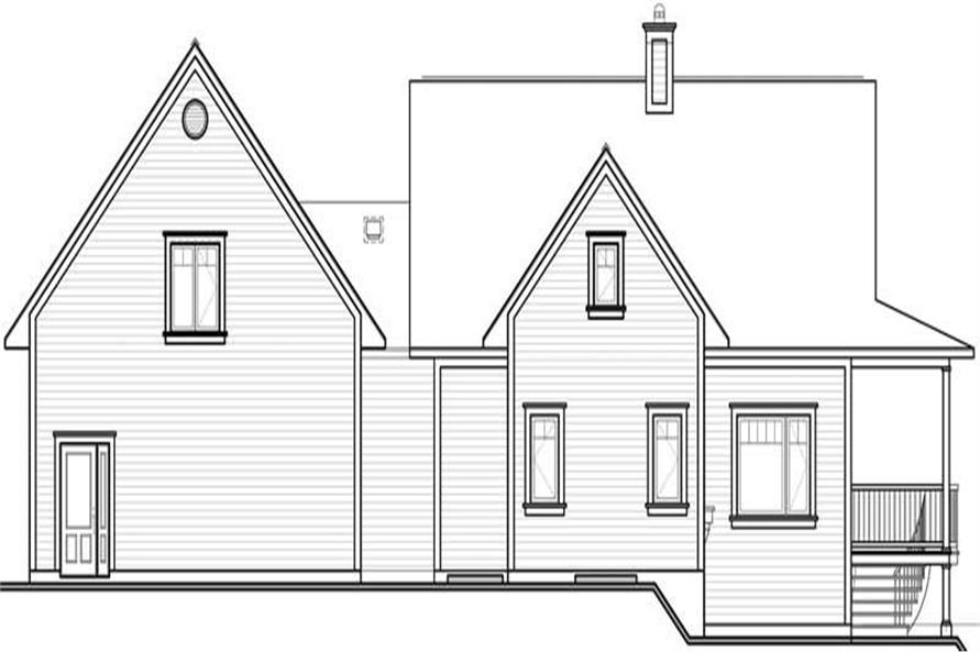 Home Plan Rear Elevation of this 3-Bedroom,2219 Sq Ft Plan -126-1533