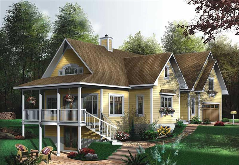 Front elevation of Coastal home (ThePlanCollection: House Plan #126-1533)