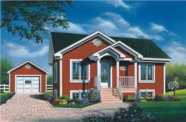 2-Bedroom, 896 Sq Ft Bungalow Home Plan - 126-1535 - Main Exterior