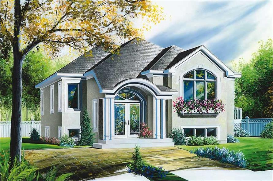 3-Bedroom, 1216 Sq Ft Bungalow House Plan - 126-1539 - Front Exterior