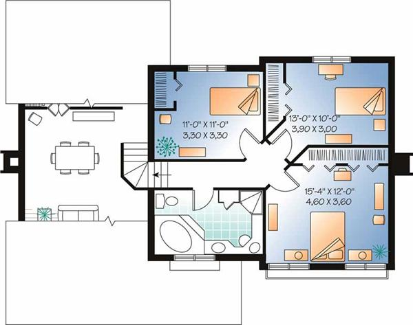 HOME PLAN SECOND LEVEL