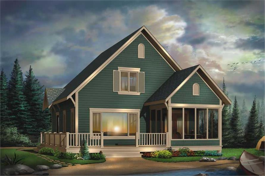 3-Bedroom, 1381 Sq Ft Coastal House Plan - 126-1543 - Front Exterior
