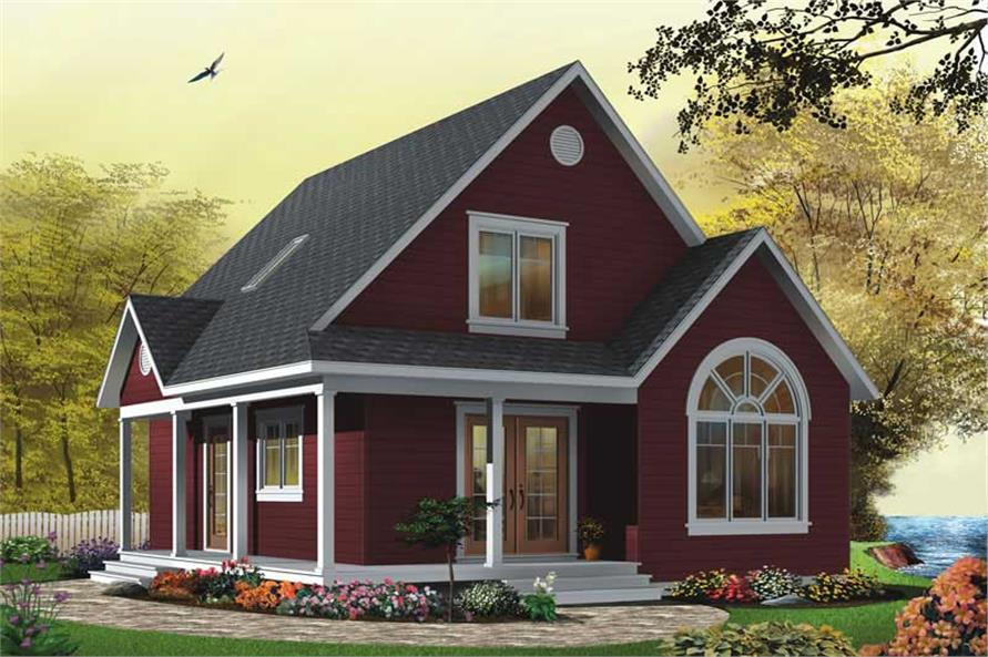 2-Bedroom Victorian House Plan with Coastal Style, 1226 Sq Ft