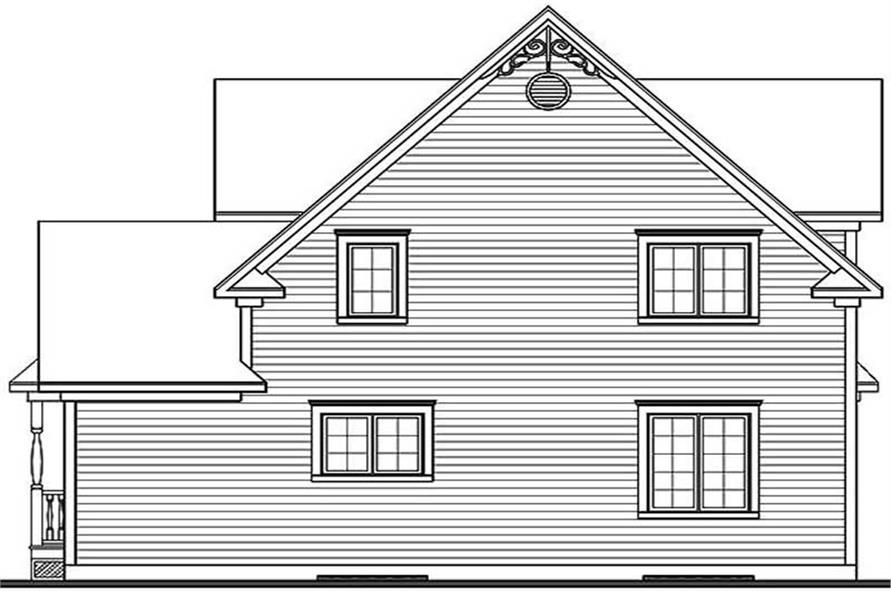 Home Plan Rear Elevation of this 3-Bedroom,1798 Sq Ft Plan -126-1547