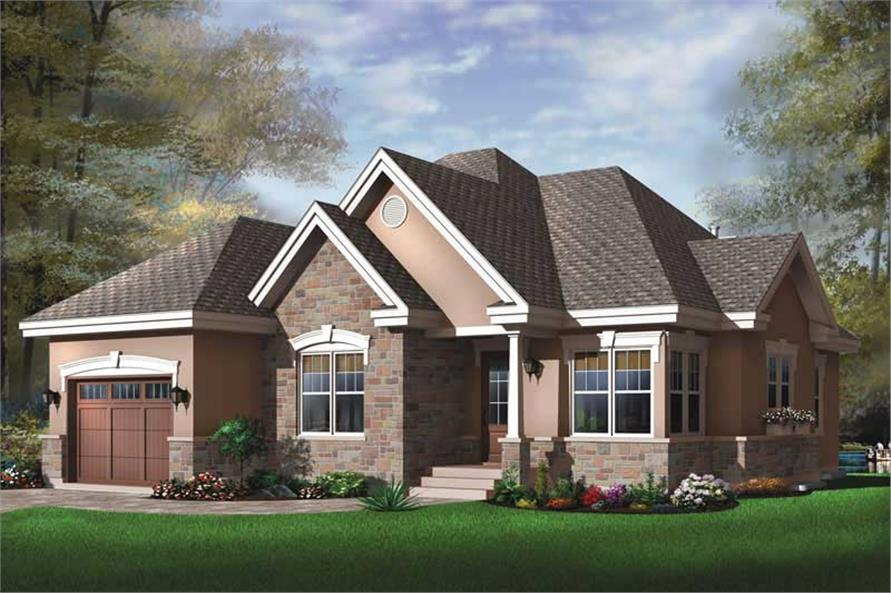 2-Bedroom, 1355 Sq Ft Contemporary House Plan - 126-1548 - Front Exterior