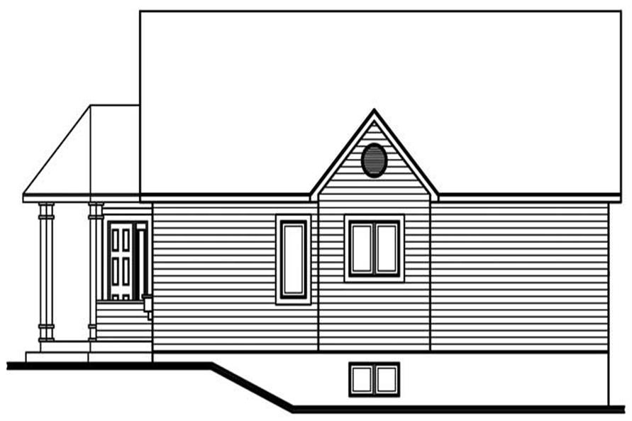 Home Plan Rear Elevation of this 3-Bedroom,1182 Sq Ft Plan -126-1551