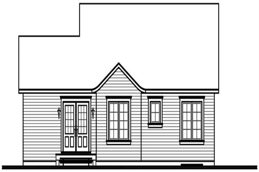Home Plan Rear Elevation of this 3-Bedroom,1147 Sq Ft Plan -126-1552
