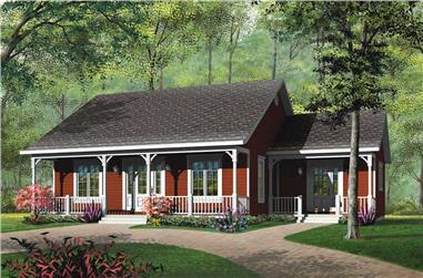 3-Bedroom, 1147 Sq Ft Ranch House Plan - 126-1552 - Front Exterior