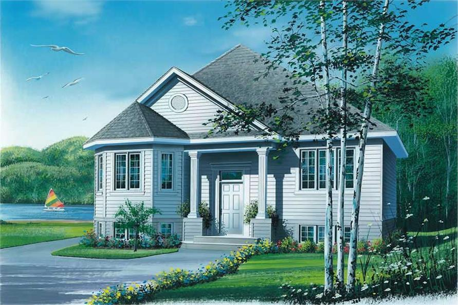2-Bedroom, 1005 Sq Ft Ranch Home Plan - 126-1558 - Main Exterior