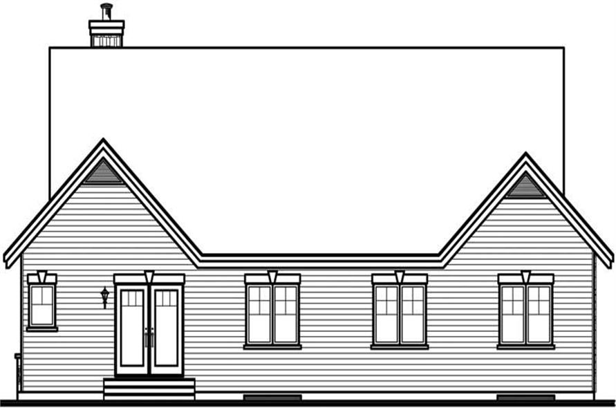 Home Plan Rear Elevation of this 3-Bedroom,1795 Sq Ft Plan -126-1559