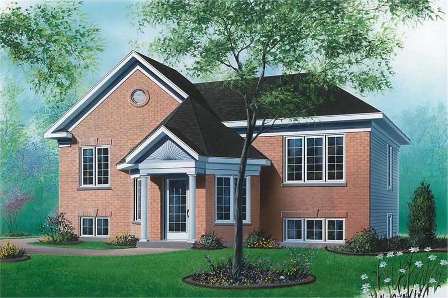 2-Bedroom, 996 Sq Ft Ranch Home Plan - 126-1565 - Main Exterior