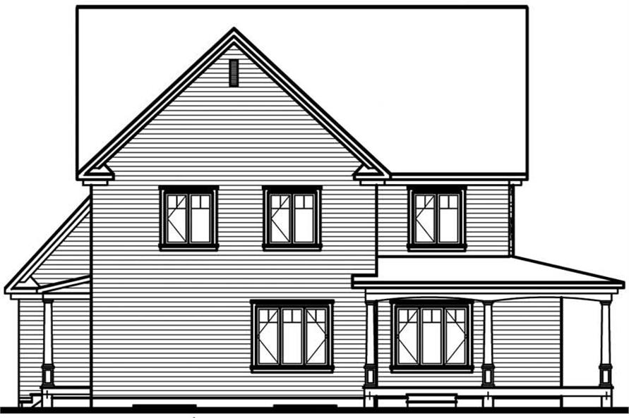 Home Plan Rear Elevation of this 4-Bedroom,3830 Sq Ft Plan -126-1567