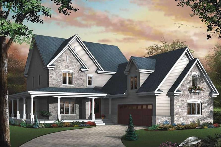 Home Plan 3D Image of this 4-Bedroom,3830 Sq Ft Plan -126-1567