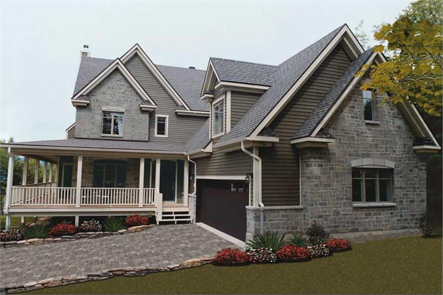 4-Bedroom, 3830 Sq Ft Contemporary Home Plan - 126-1567 - Main Exterior