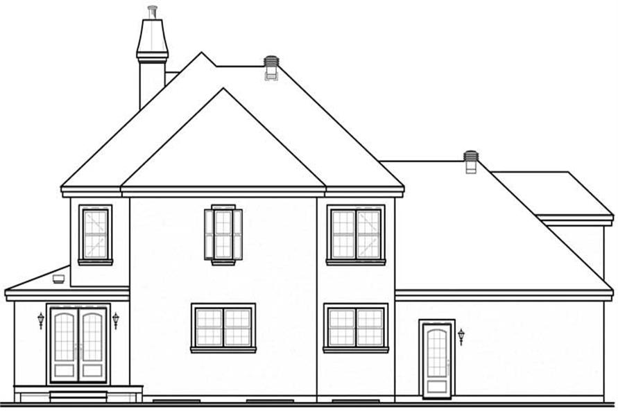 Home Plan Rear Elevation of this 3-Bedroom,2206 Sq Ft Plan -126-1570