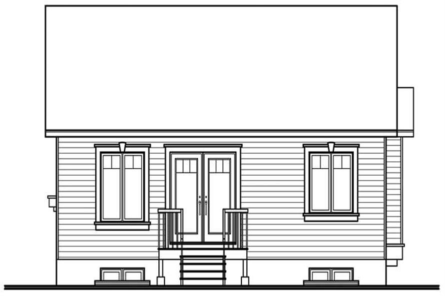 Home Plan Rear Elevation of this 2-Bedroom,1026 Sq Ft Plan -126-1571