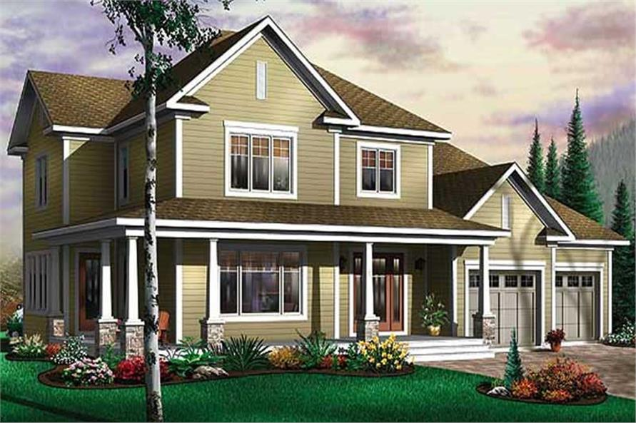 4-Bedroom, 2577 Sq Ft Country Home Plan - 126-1573 - Main Exterior