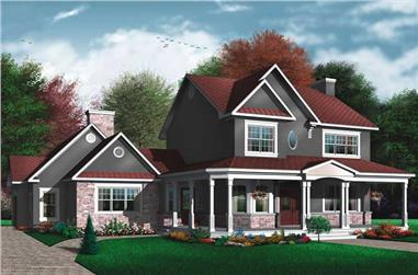 3-Bedroom, 2448 Sq Ft Country Home Plan - 126-1575 - Main Exterior