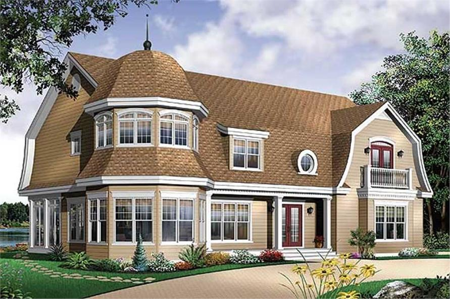 Home Plan Rear Elevation of this 4-Bedroom,3733 Sq Ft Plan -126-1576