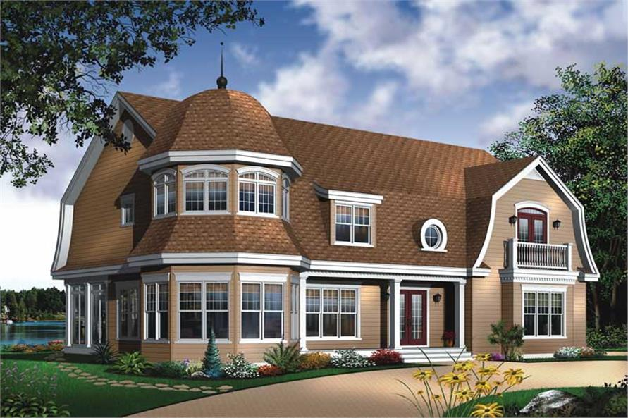 4-Bedroom, 3733 Sq Ft Country Home Plan - 126-1576 - Main Exterior