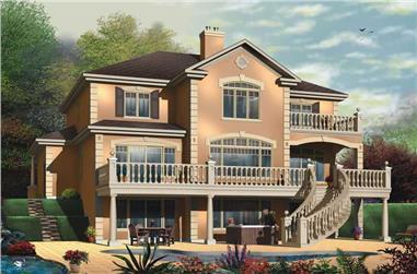 4-Bedroom, 3251 Sq Ft Coastal Home Plan - 126-1577 - Main Exterior