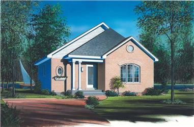 2-Bedroom, 864 Sq Ft Bungalow House Plan - 126-1578 - Front Exterior