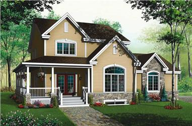 3-Bedroom, 2245 Sq Ft Country Home Plan - 126-1583 - Main Exterior